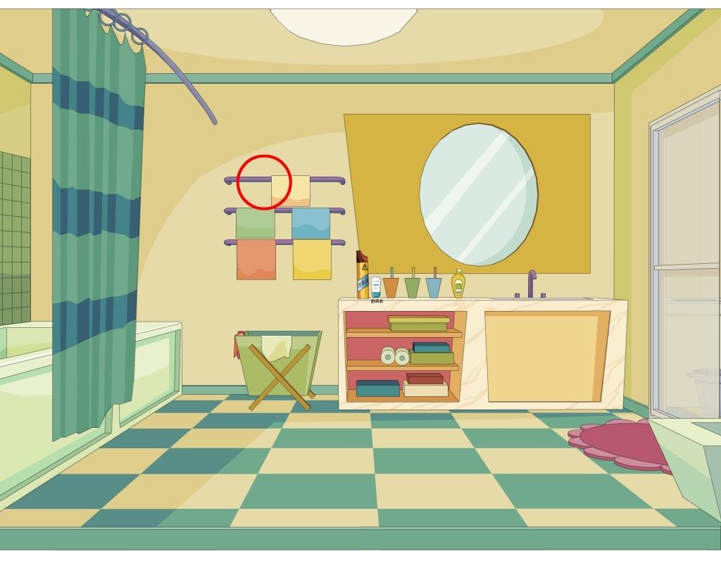 室内浴室卡通镜子毛巾图片下载卡通flash