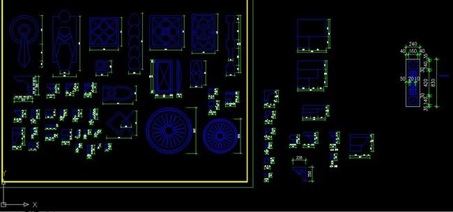 欧式家具cad模板下载(图片编号:12314284)