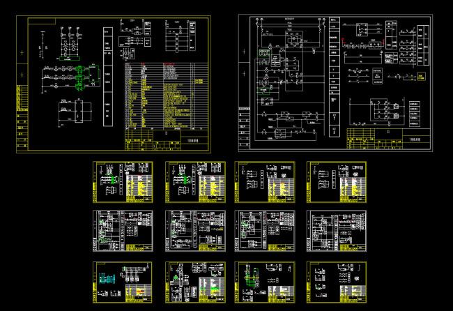 某公司10kv高压配电柜原理图cad图纸