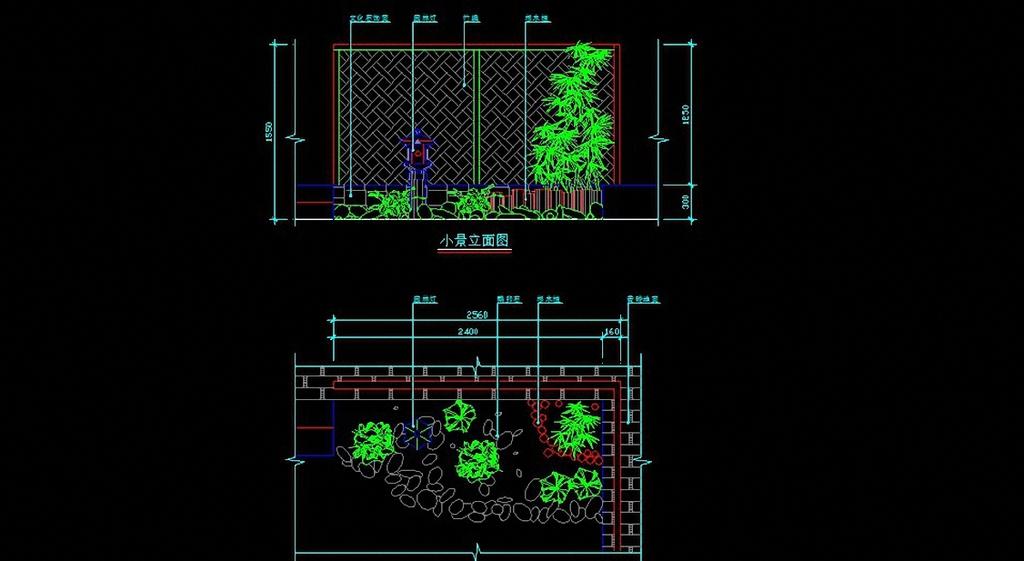 室内造景cad设计图模板下载(图片编号:12315352)