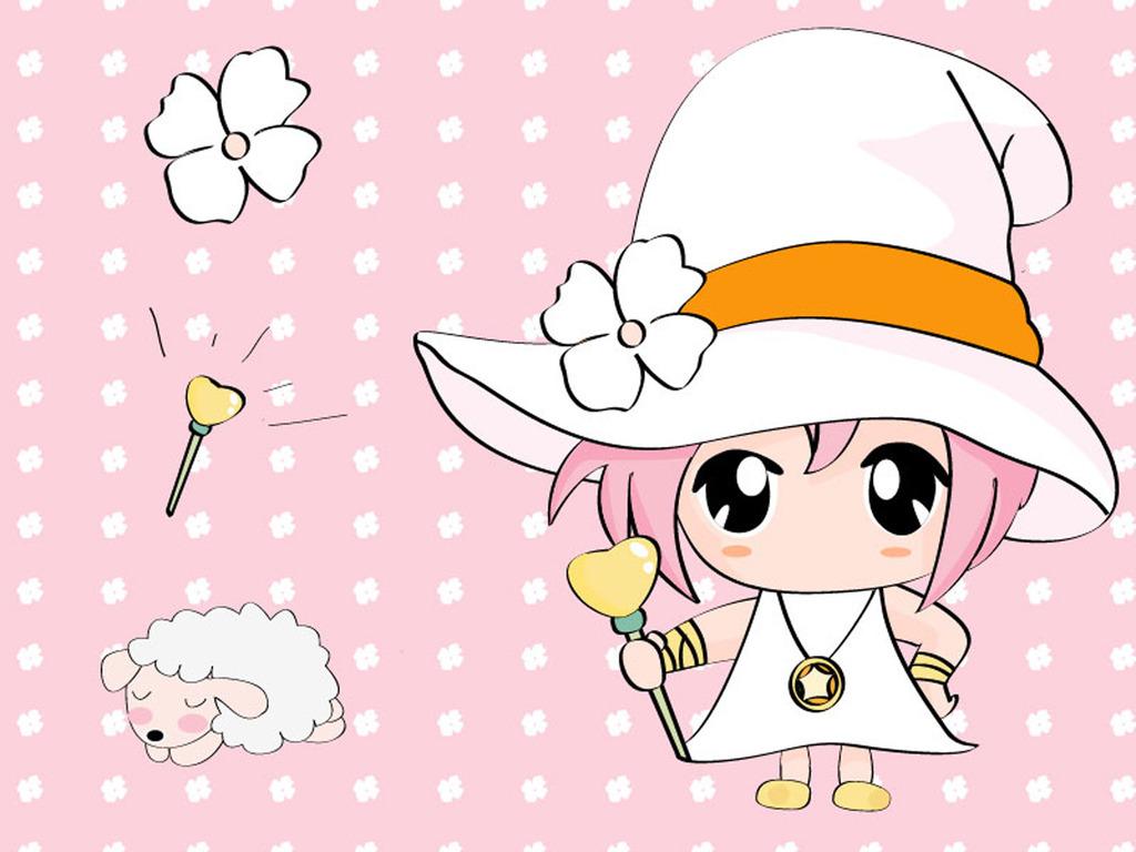 日本卡通女孩人物失量图