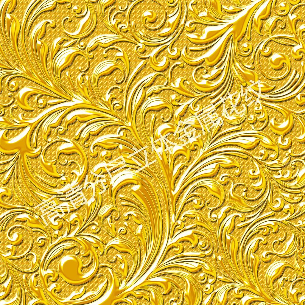 浮雕花纹金属质感背景