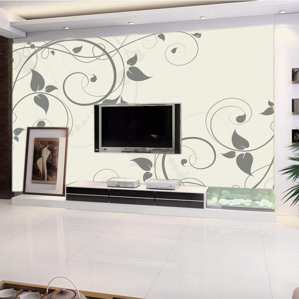 大气欧式花朵电视背景墙壁纸壁画