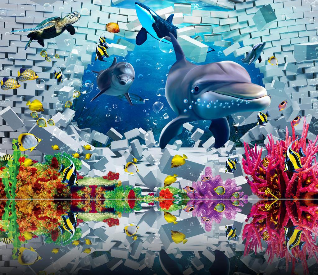 海底世界鲸鱼的简笔画