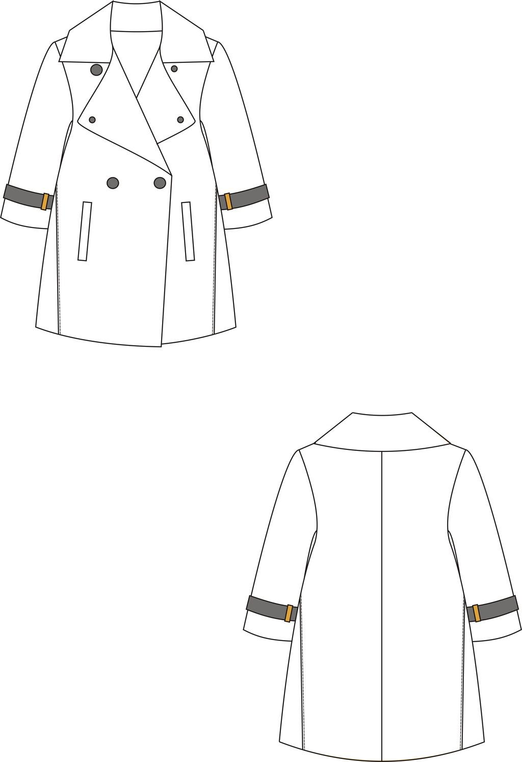服装设计 女装设计 上装设计 > 简单的女装风衣设计  下一张&gt