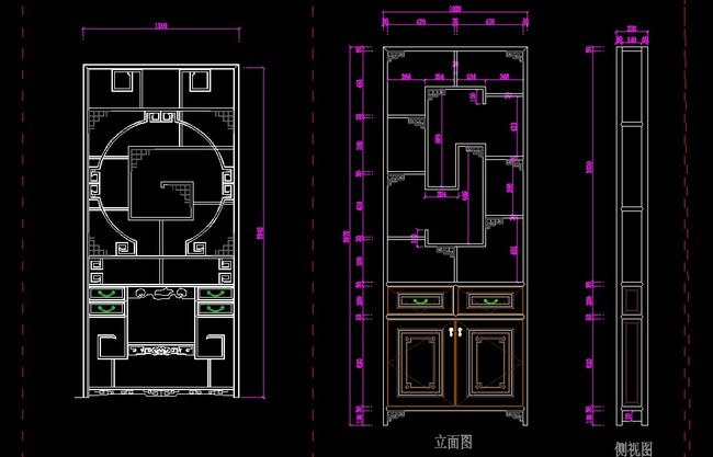 家具设计图 柜子图纸