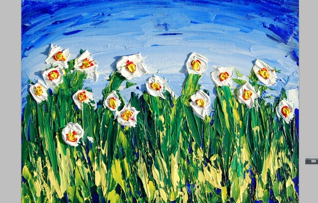 3d立体手绘油画花朵墙画壁画模板下载(图片编号:)