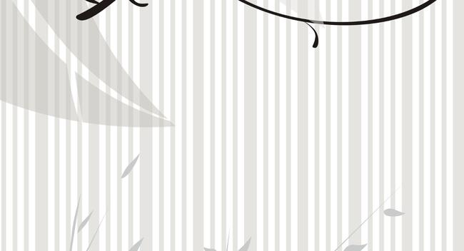 窗帘手绘线条图