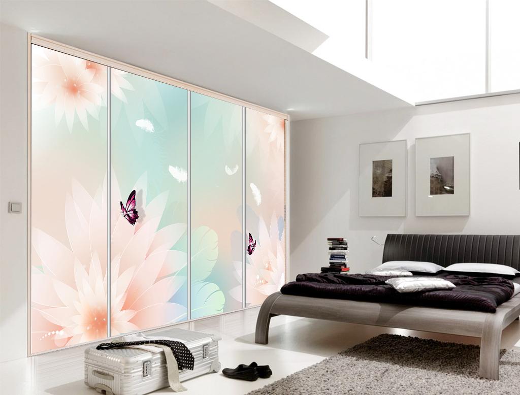 背景墙 电视 花卉/梦幻淡雅花卉电视背景墙壁画模板下载