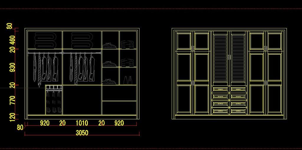 室内设计 cad图库 家具cad图纸 > 最新衣柜cad设计图集  下一张&nbsp