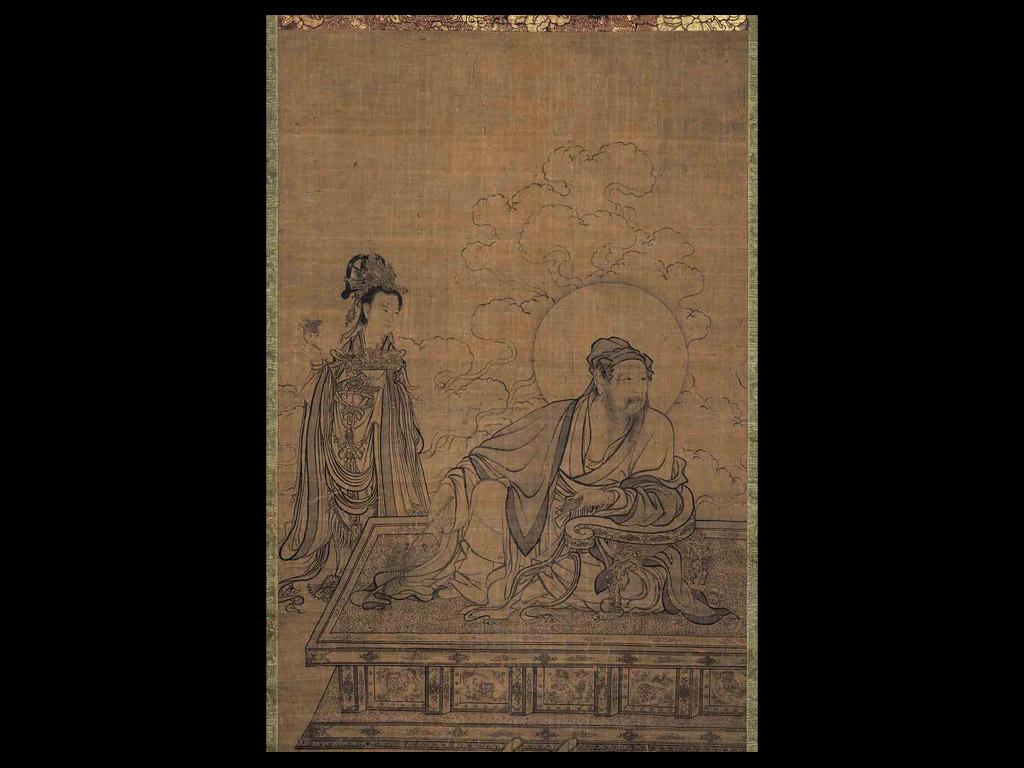 手绘古代卧房图片