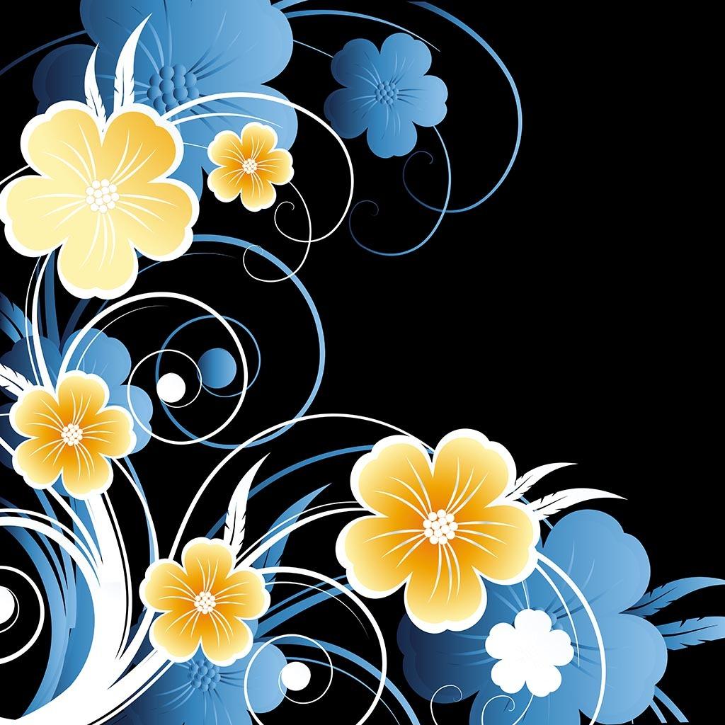 桃花艺术字体手绘