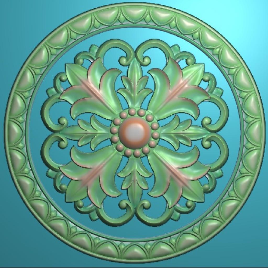 欧式洋花浮雕图木门雕花