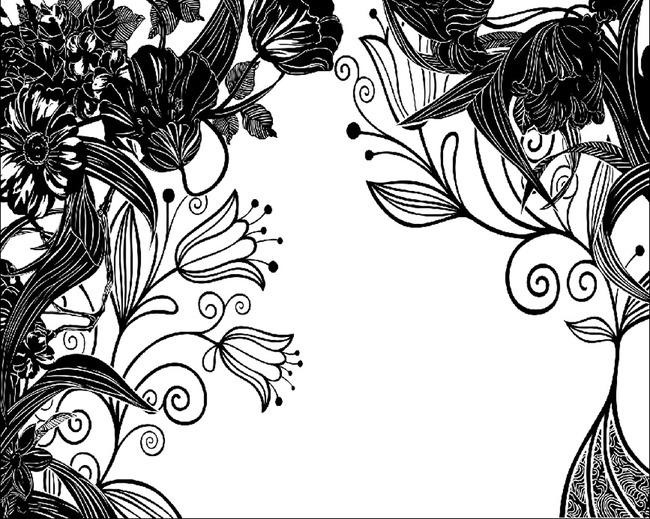 横版设计图封面手绘