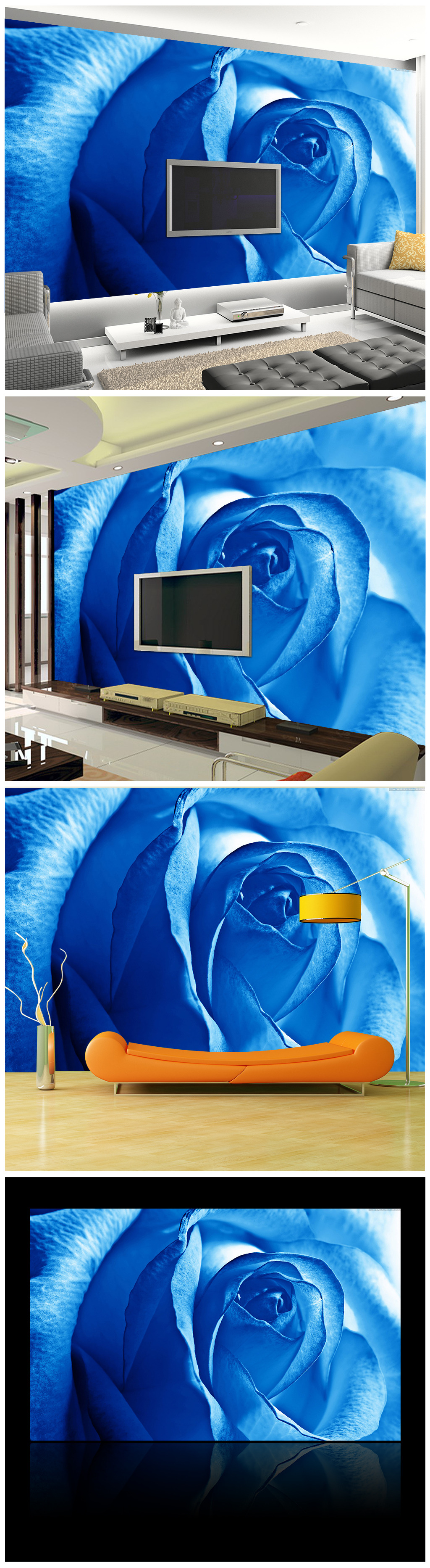 背景墙 客厅 蓝色妖姬/[版权图片]蓝色妖姬客厅背景墙