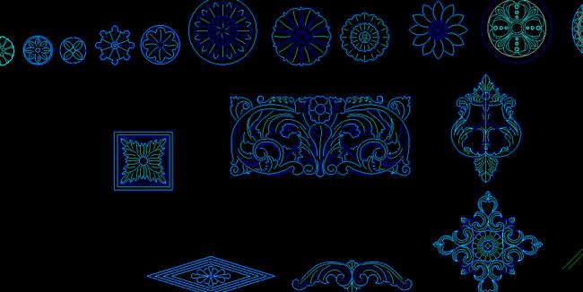 dwg格式图片木工镂空矢量图