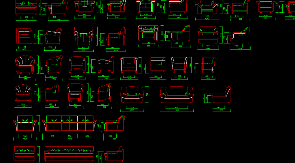 常用室内装修设计cad图纸图库1