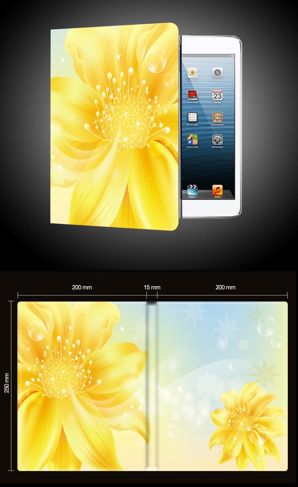 黄色向日葵泡沫ipad平板电脑保护套