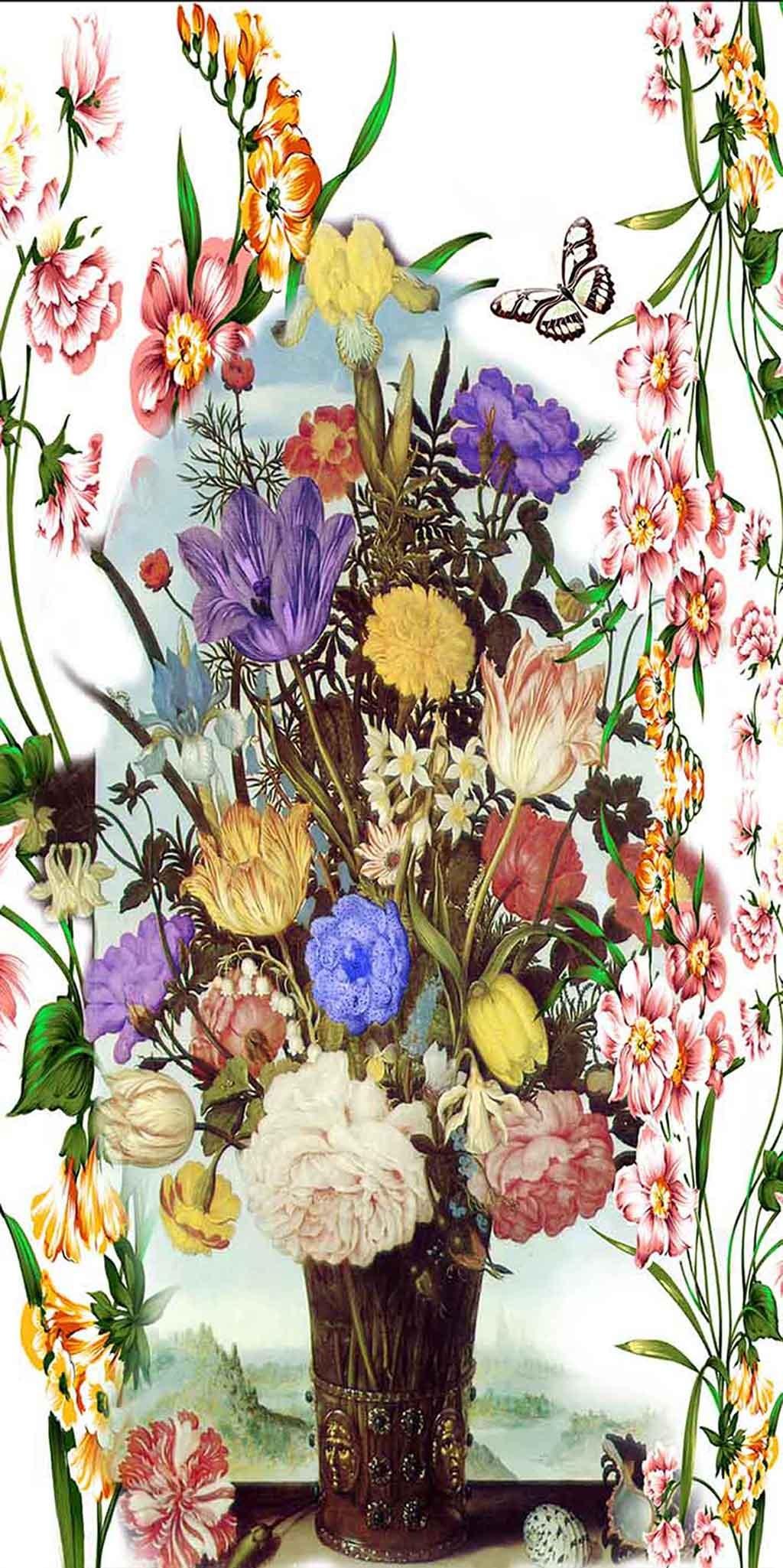 欧式花瓶油画背景模板下载(图片编号:12353552)