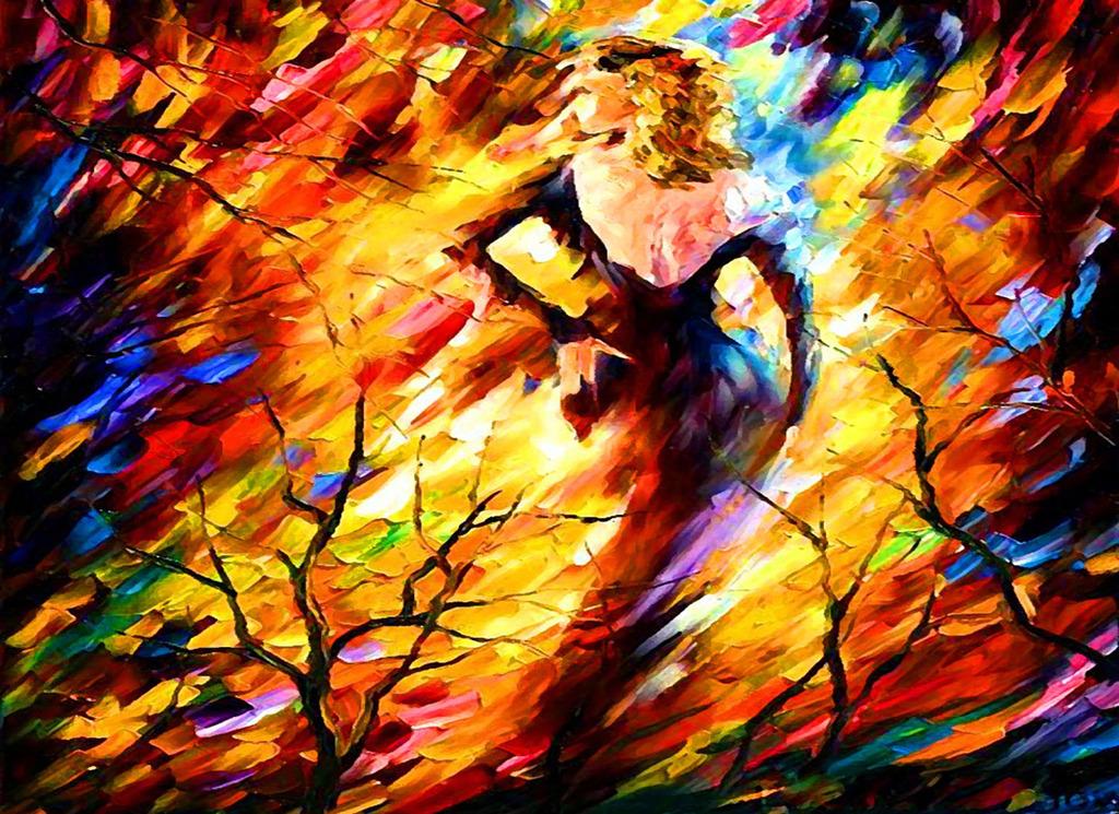 彩雕欧式油画风中的女人