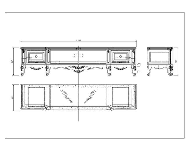 经典欧式美式古典地柜电视柜cad文件