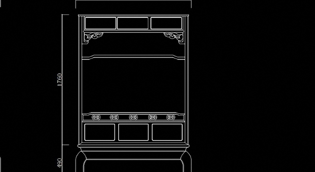 家具设计图 床图纸 > 清代紫檀红木合料八柱架子床