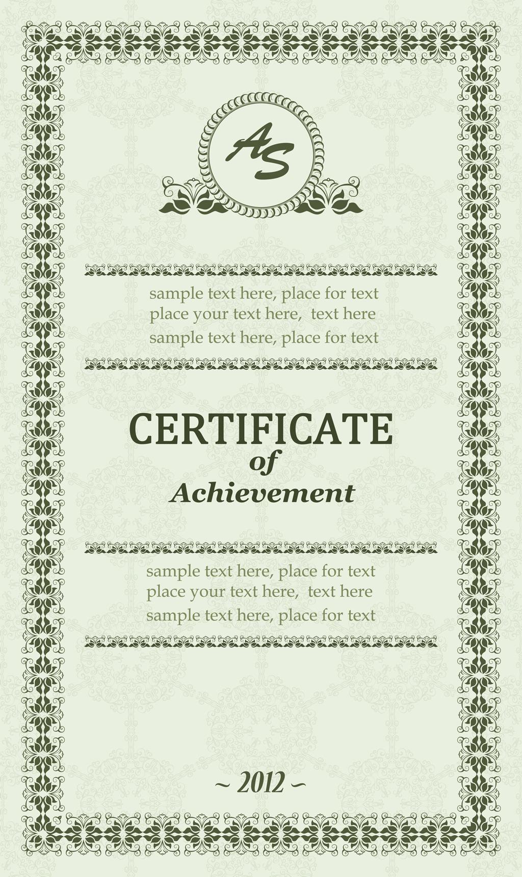 国外学历证书模版模板