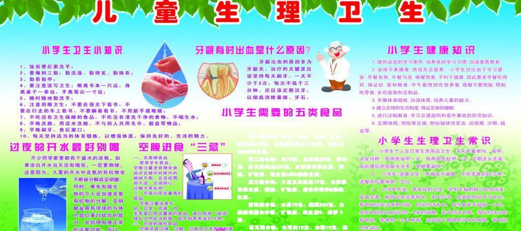 儿童生理卫生知识宣传栏