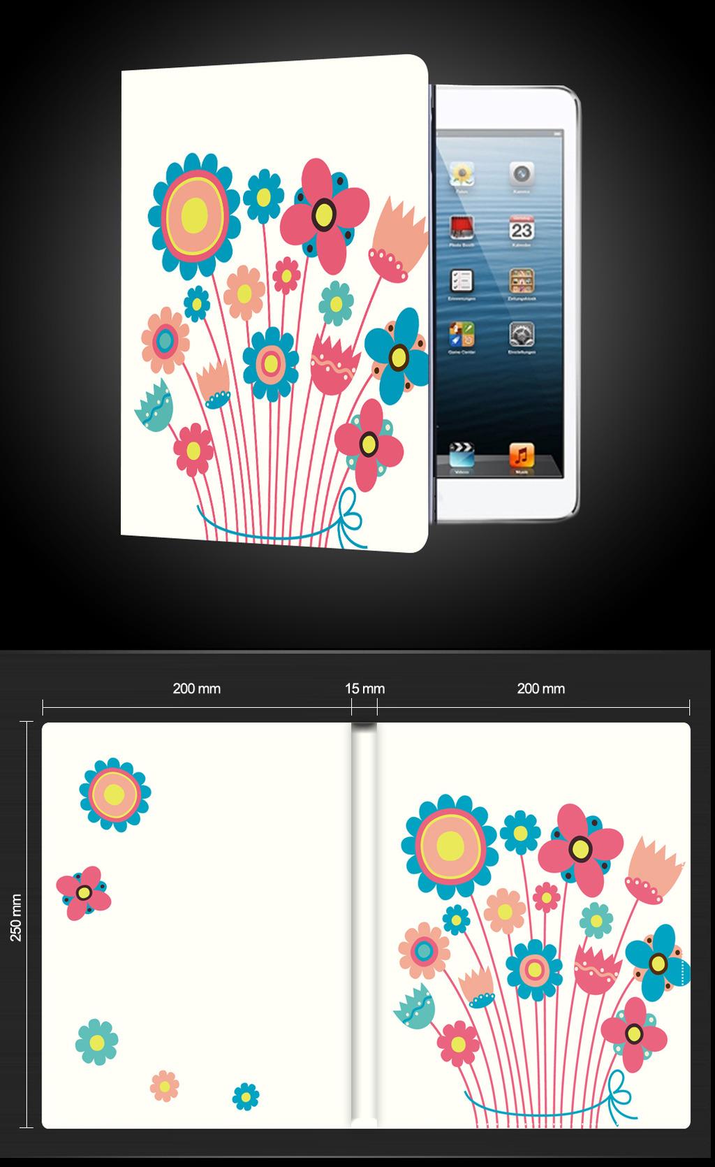 卡通小花花朵ipad平板电脑保护套