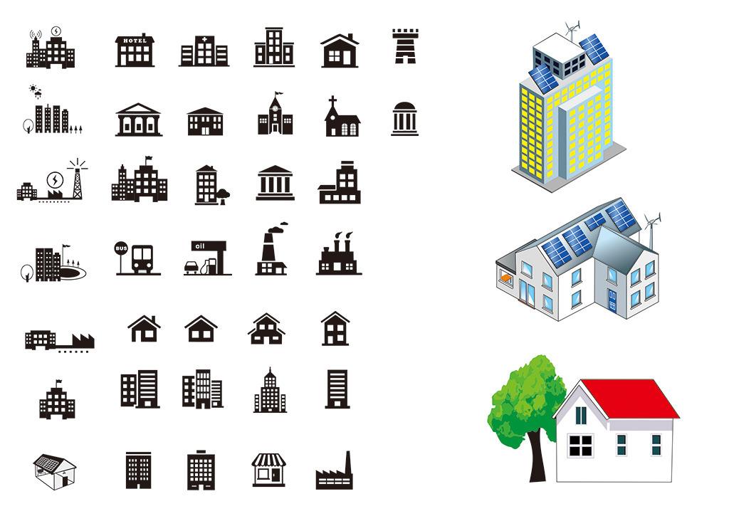 房子矢量模板下载 房子矢量图片下载