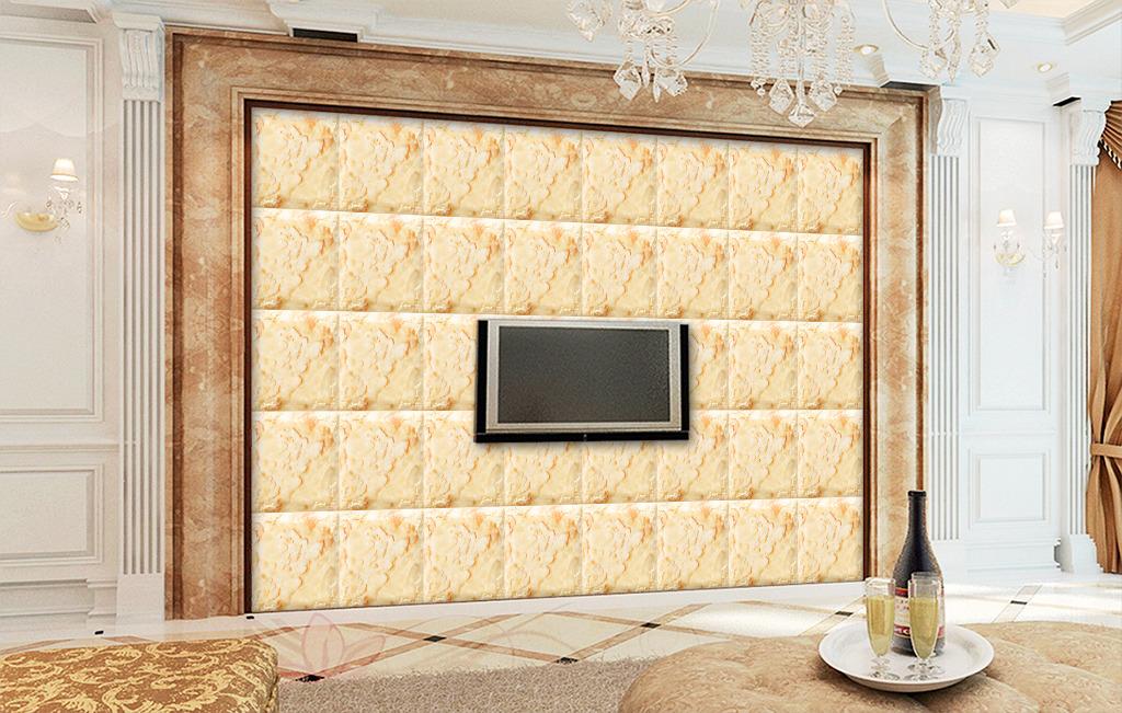 欧式3d浮雕皮雕软包花纹电视背景墙
