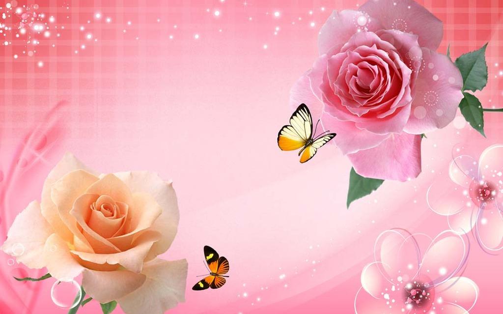 温馨 粉色 梦幻 客厅电视背景墙