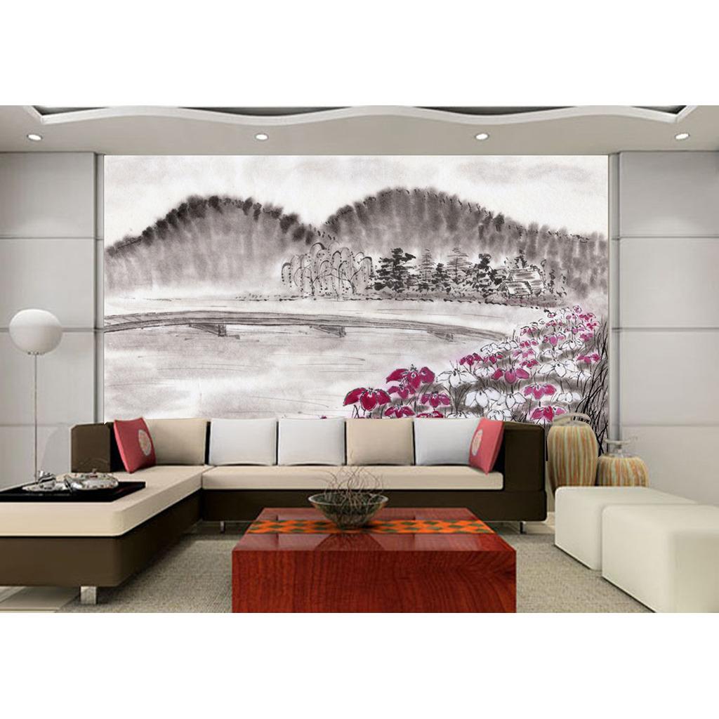 手绘 3d沙发背景墙
