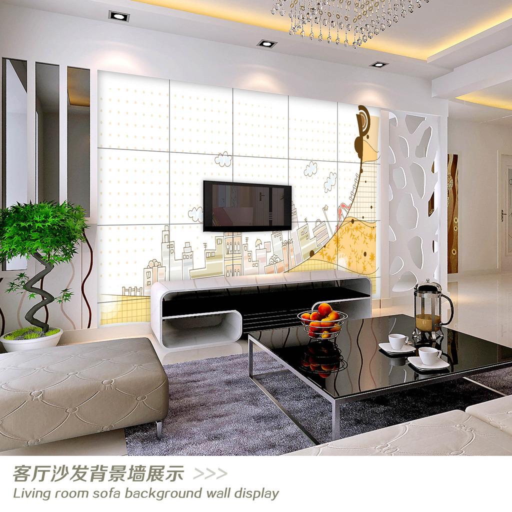 电视墙 装饰画 中式 沙发背景 瓷砖背景墙 壁画 墙纸 现代 时尚 线条