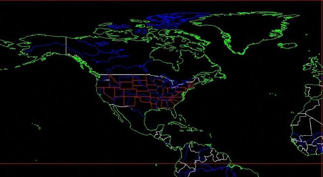 cad版世界地图