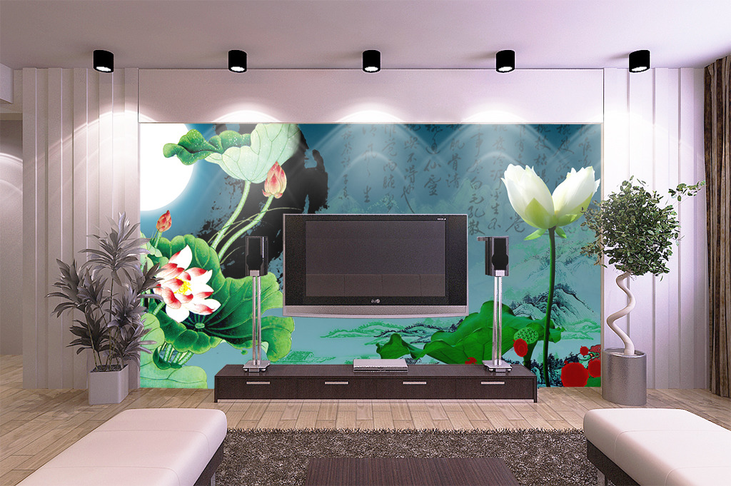壁画电视背景墙 > 简约瓷砖电视背景墙