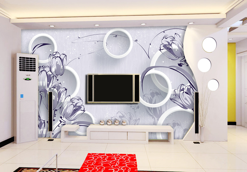 3d立体壁画电视背景墙