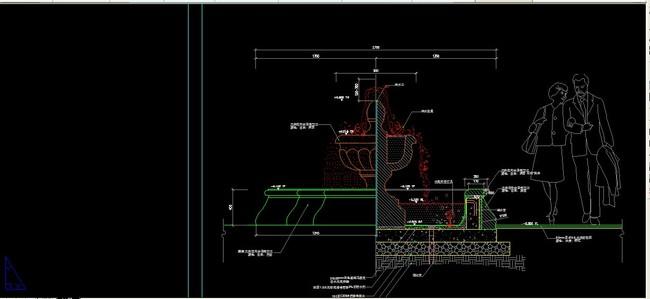 cad图库 室内设计cad图库 节点详图cad图纸 > 广场水池喷泉cad设计
