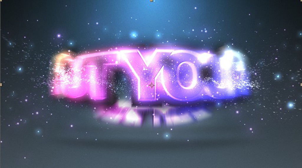 绚丽紫色粒子碰撞logo文字ae片头模板模板下载
