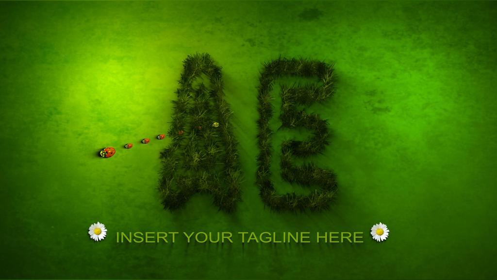 视频素材logo绿色卡通动画
