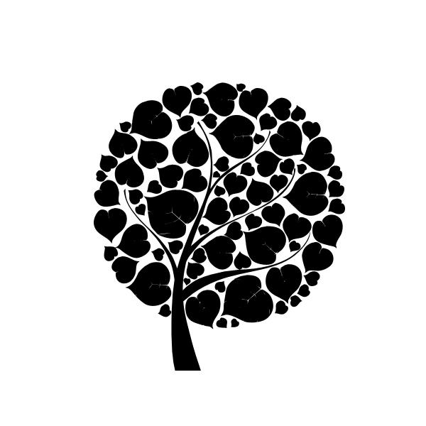 ps自定义图案小树叶组成大树