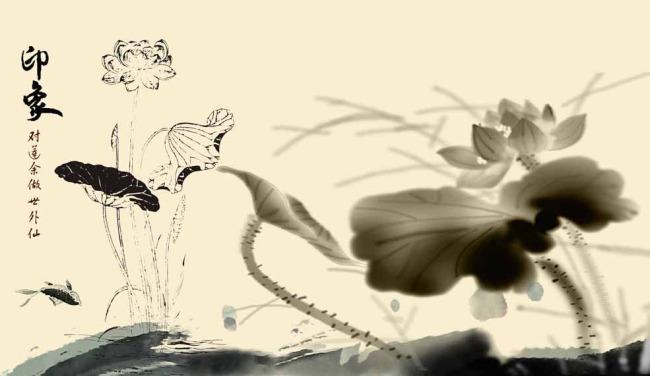 水墨莲花模板下载 水墨莲花图片下载 莲花 水墨画