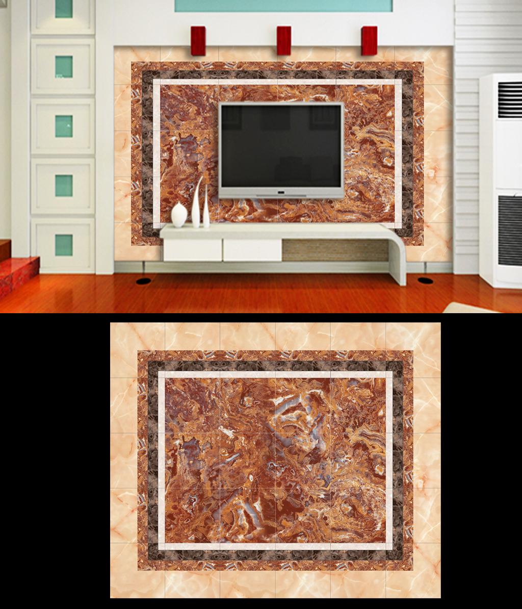 精品大理石电视墙模板下载(图片编号:12402885)