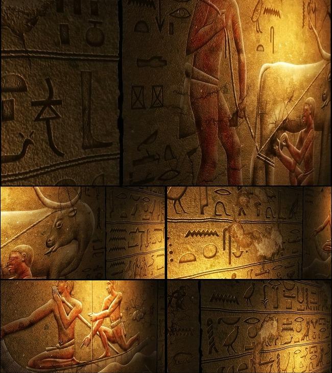 古代埃及法老 墓 壁画 视频背景模板下载 图片编图片