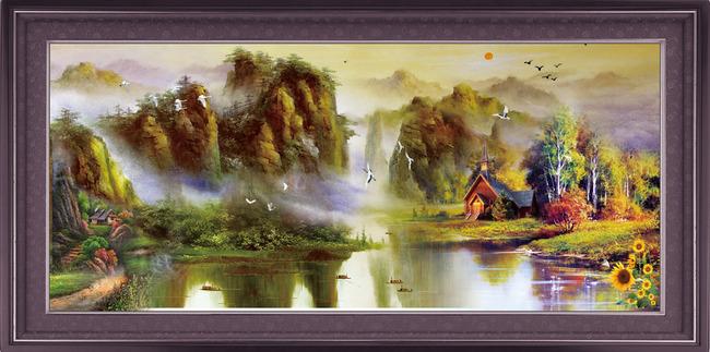 山水画风景画装饰画油画