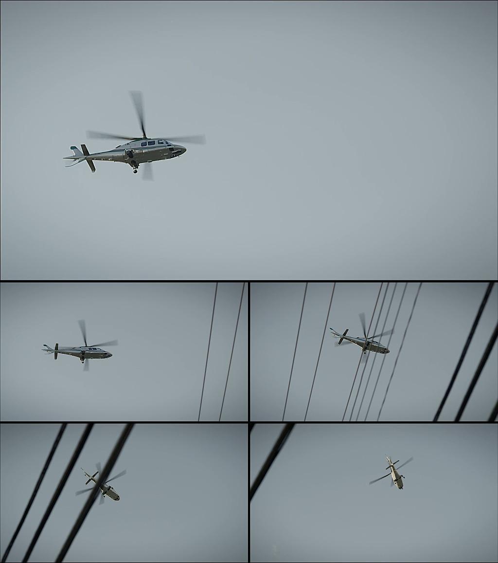 直升飞机飞行实拍视频
