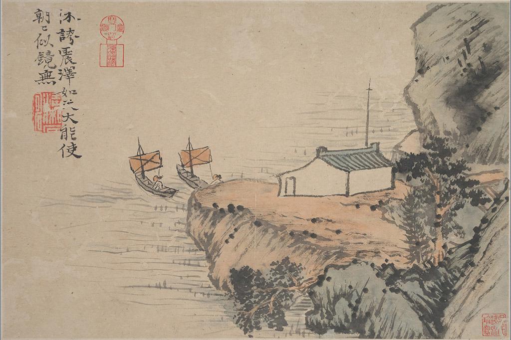 古代小船图片 手绘