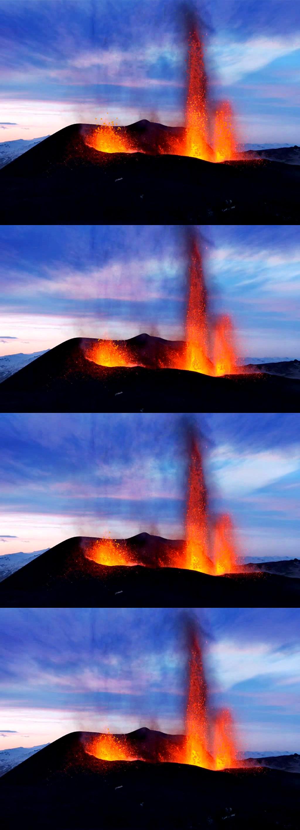 高清火山喷发岩浆翻滚视频模板下载(图片编号:)_动态