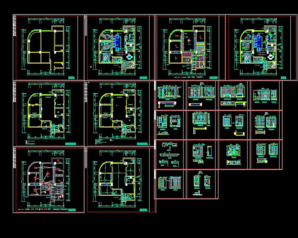 下载图片下载 cad室内装修施工图模板下载 cad室内装修施工图图片下载