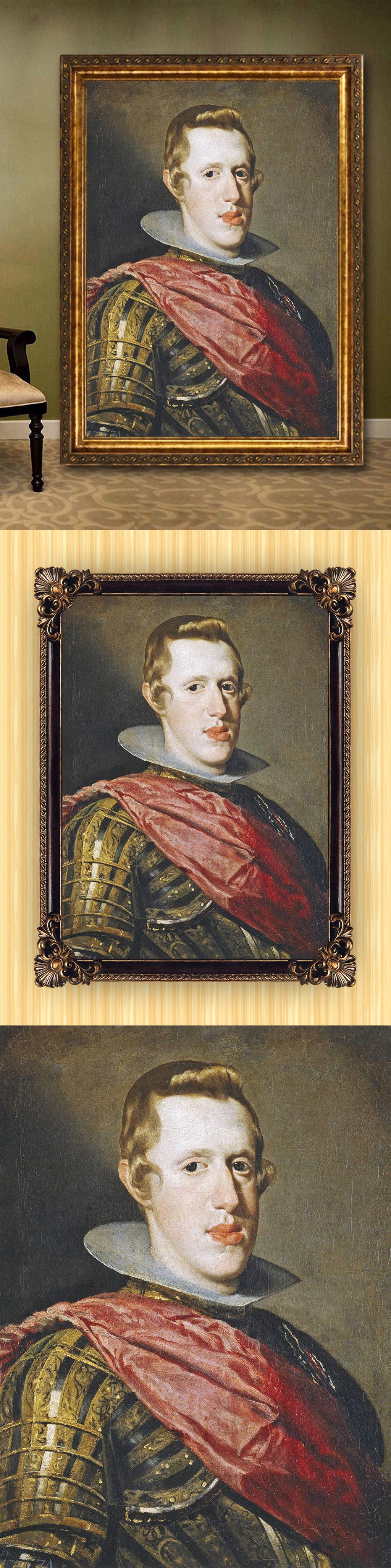 高清手绘欧式古典写实风格绅士肖像油画